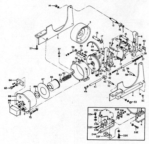 "GE 8"" A100 IC9528 Brake Diagram"