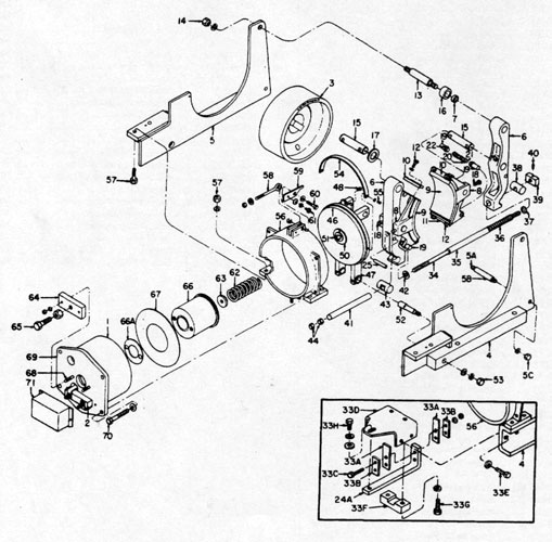 "GE 13"" A102 IC9528 Brake Diagram"