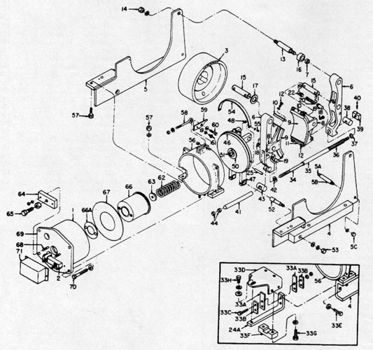 "GE 19"" A104 IC9528 Brake Diagram"