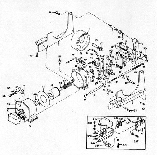 "GE 23"" A105 IC9528 Brake Diagram"