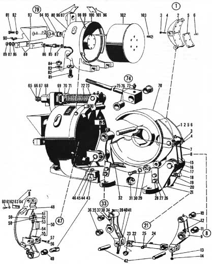 "EC&M 5010 13"" WB Brake Folio 5 Diagram"