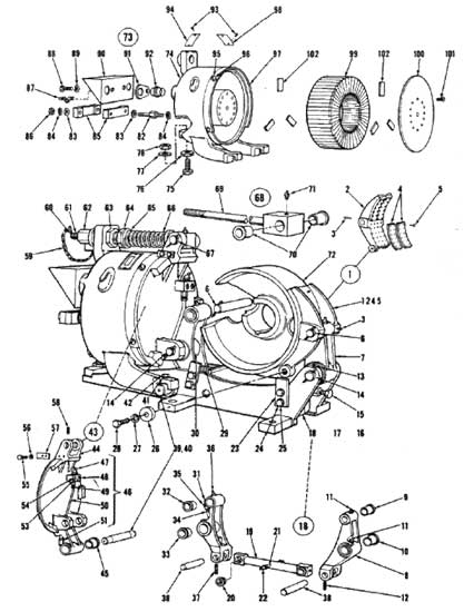 "EC&M 5010 19"" WB Brake Folio 5 Diagram"