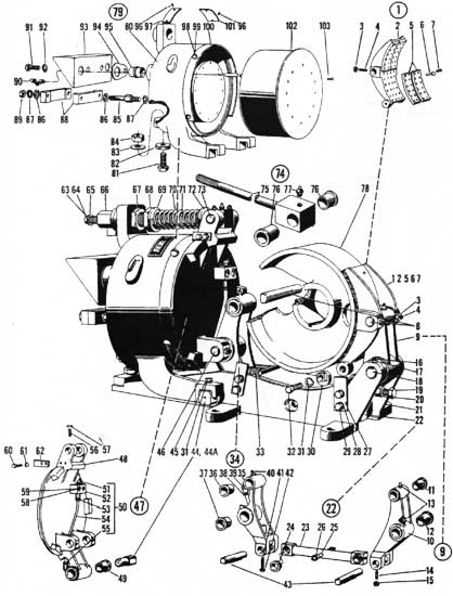 "EC&M 5010 23"" WB Brake Folio 5 Diagram"