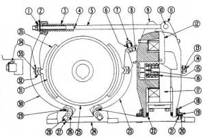 """Cutler-Hammer 505 13"""" DC Magnetic Brake Diagram"""