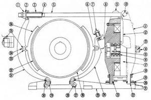 """Cutler-Hammer 505 16"""" DC Magnetic Brake Diagram"""