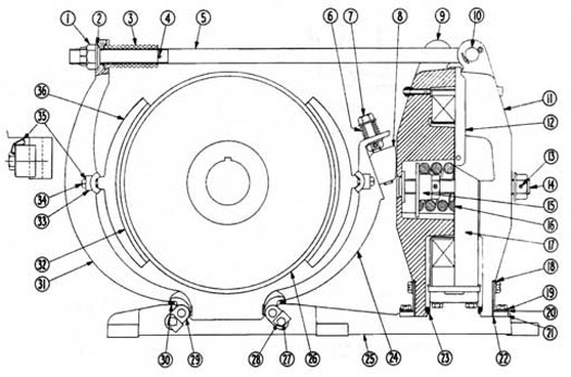 "Cutler-Hammer 505 16"" DC Magnetic Brake Diagram"