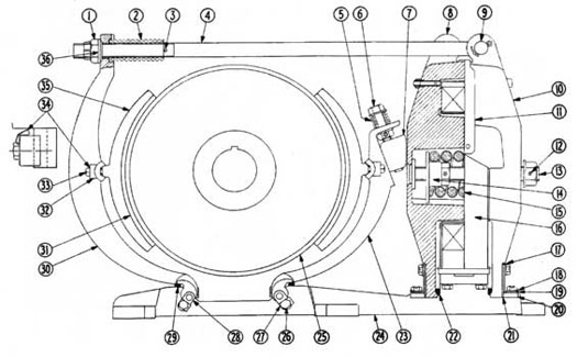 "Cutler-Hammer 505 19-23"" DC Magnetic Brake Diagram"