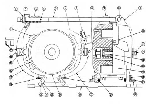 "Cutler-Hammer 505 08-10"" DC Magnetic Brake Diagram"