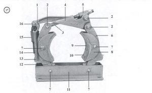 10 x 4 Type H Drum Brakes - Old Style