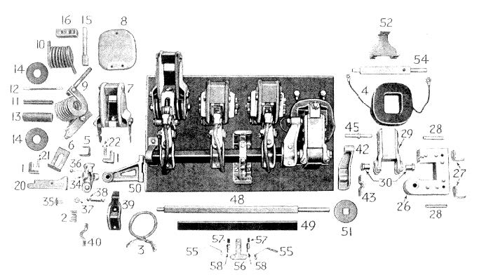 D.C. Magnetic Contactor Form 100-3L3A Diagram
