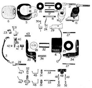 D.C. Magnetic Contactor Form 100-4RD Diagram