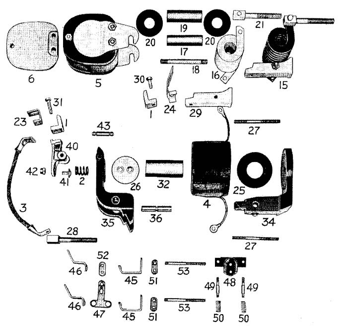 D.C. Magnetic Contactor Form 100-4RD Diagram
