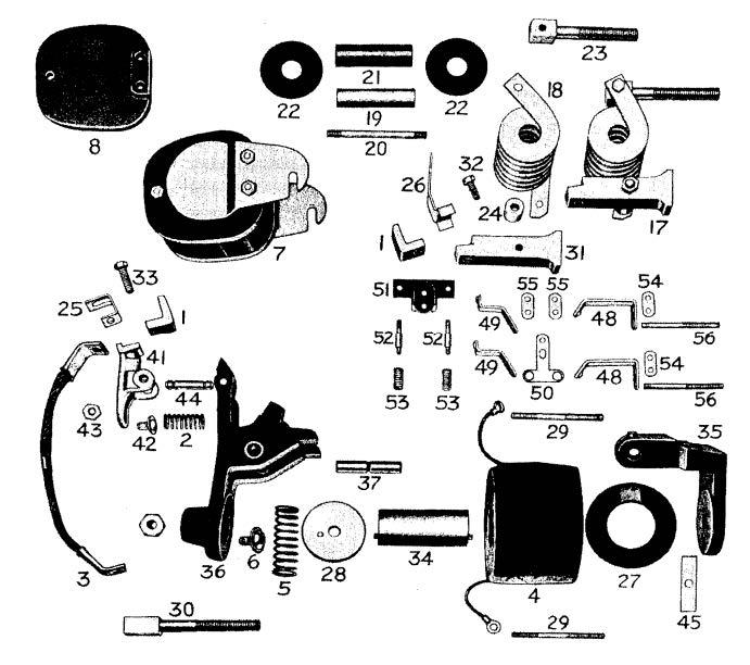 D.C. Magnetic Contactor Form 100-4RS Diagram