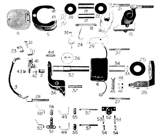 D.C. Magnetic Contactor Form 100-4RT Diagram