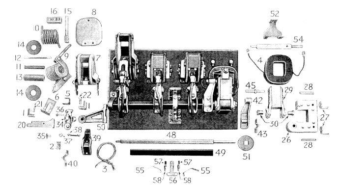 clark d c  magnetic contactor form 150