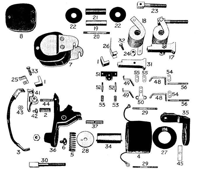 D.C. Magnetic Contactor Form 150-5RS Diagram