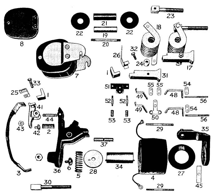 D.C. Magnetic Contactor Form 300-5RS Diagram