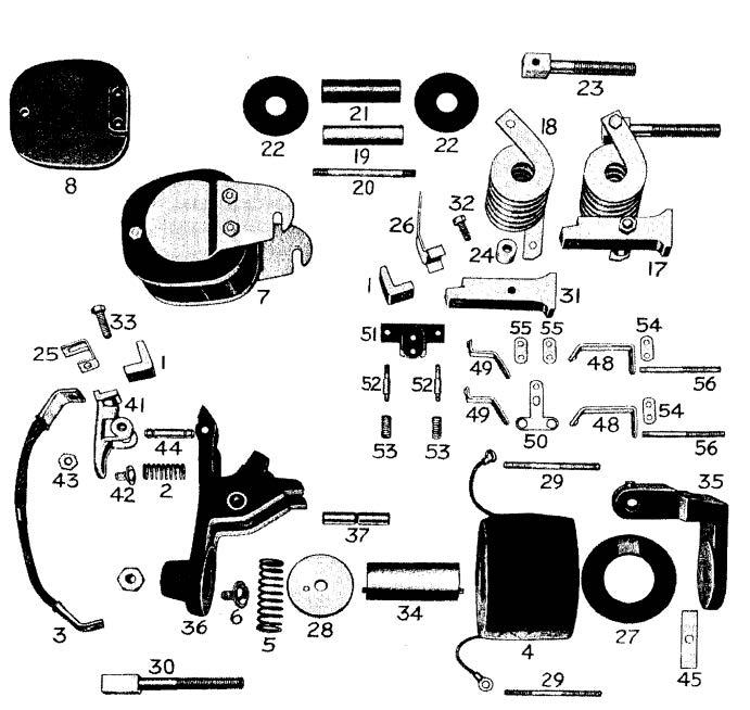 D.C. Magnetic Contactor Form 600-5RS Diagram