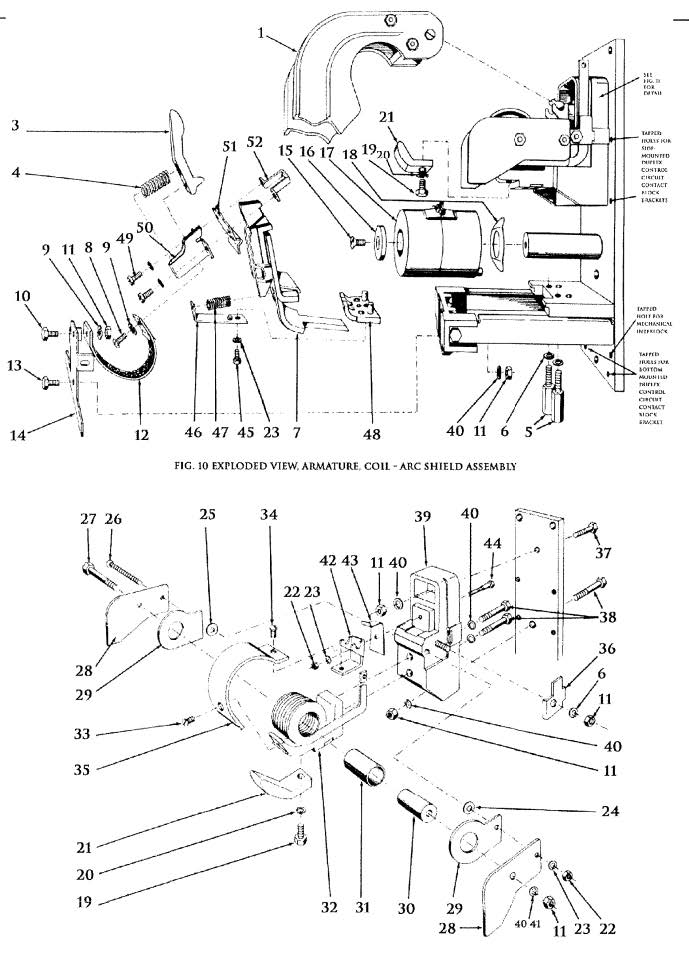 D.C. Magnetic Contactor Type KD 150 Amp Diagram