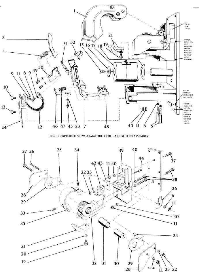 D.C. Magnetic Contactor Type KD 300 Amp Diagram